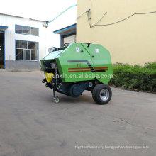 Tractor powered round straw baler/hay baler