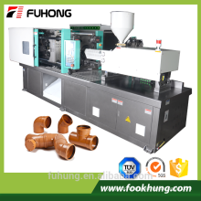 Ningbo fuhong 240ton pvc 90 equal elbow pipe fitting three way injection molding machine