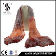 Art und Weisefrauen drucken Quastenschal Schal lange dicke Stola Wrap Schals