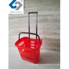Rolling Basket with Aluminium Handle