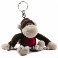 Llavero personalizado del mono de la felpa del diseño