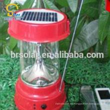 Sistema casero y lámpara solar de la linterna que acampa LED con el cargador del teléfono móvil