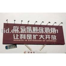 Reflective outdoor billboard advertising