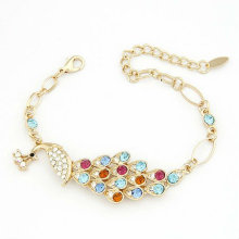 Fashion Peacock Design Rhinestone/Crystal Bracelets FB43