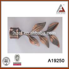popular antique copper Metal Curtain Pole/leaf curtain finial/telescopic curtain rod