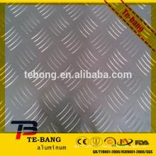 Feuille en aluminium estampé en stuc / Feuilles à carreaux diamantés 0,5 mm - 2 mm