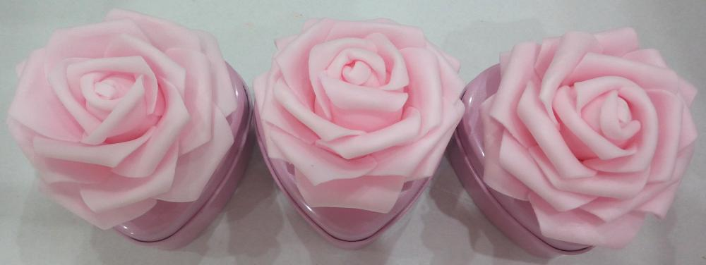 Pink Heart Shape Candy Tin Box