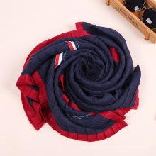 Mais recente design de fábrica tingyu inverno mulheres moda hijab cachecol plissado xale