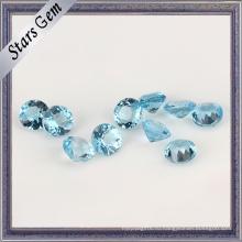 Чудесный Швейцарский синий топаз круглый натуральный камень для ювелирных изделий