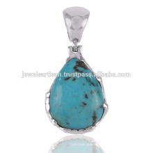 Bijoux Pendentif en Argent Sterling 925 Sterling Turquoise