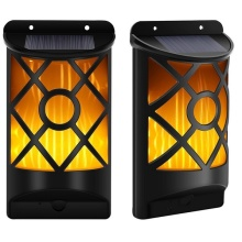 66 LED Solar Flame Wall Light