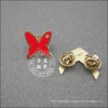 Butterfly Shape Lapel Pin, Enamel Plated Badge (GZHY-LP-049)