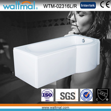 P Shape Acrylic Shower Bath Bathtub with Skirt (WTM-02316L/R)