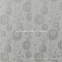 Rideau de fenêtre peint en fil de couleur gris grise