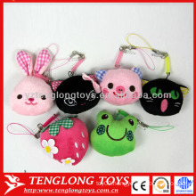 Hot sale cute plush animal keychain pendant