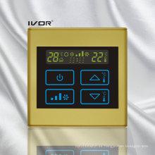 Interruptor táctil del termóstato del acondicionador de aire de 2 tubos en marco plástico (SK-AC2300B-2P-N)