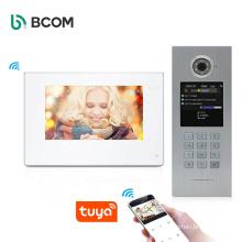 Bcom multi apartment tuya wif unlock ip video door phone intercom system tuyasmart visual doorbell doorphone kit
