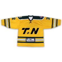 Jersey de hockey sobre hielo Sublimation Tonton Yellow