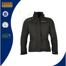 Otoño grueso Padded Down Parka Puffer paño chaqueta de esquí de las mujeres Padding Chaqueta de invierno de la señora Hood reemplazo Black Jacket