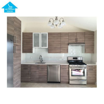 modern modular MDF customized red and black kitchen cabinet