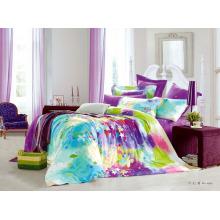 2014 новый роскошный мягкий цветочный нестандартный дизайн 100% хлопок реактивный печатный дизайн постельного белья