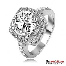 Zircon clásico y anillo de boda CZ Crstal baratos (Ri-HQ1003)