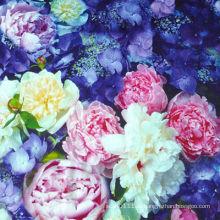 OEM и ODM цветок цифровой шелковый шарф печать