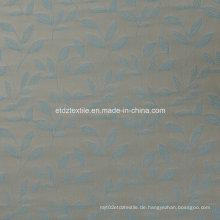 Erstklassiges Garn gefärbtes Blatt Jacquard Fenster Vorhang