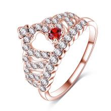 Cz diamante coroa real anel de dedo da rainha por atacado (cri1011)
