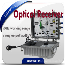 Outdoor Smart CATV 4 Way Fibre Optic Receiver