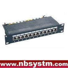 "12 ports STP Cat5e Patch Panel 10 ""1U, Krone IDC"