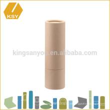 Orgánico ecológico vacío mini tubo de papel para bálsamo labial recipiente