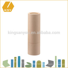 Organic empty eco friendly mini paper tube for lip balm container