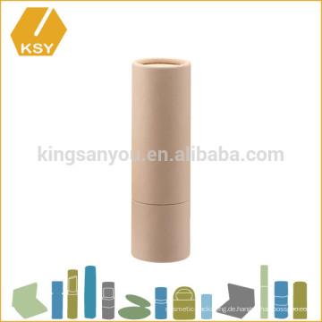 Organische leere umweltfreundliche Minipapierröhre für Lippenbalsambehälter