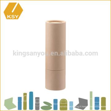 Mini tube en papier écologique écologique et écologique pour le récipient pour baume à lèvres
