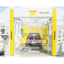 New Tepo-auto Tunnel Car Wash Systme Equipped With Automatic Horizontal Wheel Brush System