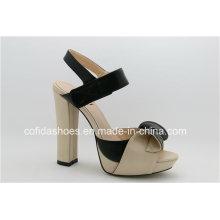 Fashion Elegant Sweet High Heels Leder Frauen Sandalen