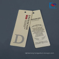 Recyclable custom cardboard clothing paper tags