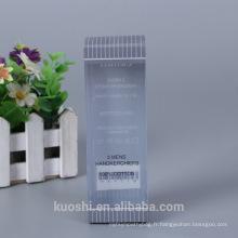 En gros Logo Personnalisé En Plastique Emballage PP PET PVC Boîte Mens mouchoirs Emballage Boîte Conception
