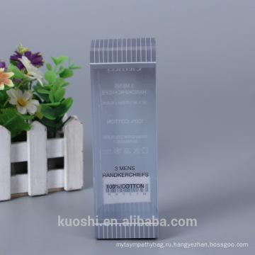 Оптовая изготовленный на заказ Логос пластичный упаковывать любимчика PP Коробка PVC мужские платки упаковочной коробки дизайн