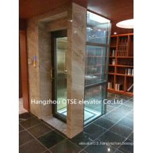 Glass small home elevator lift villa elevator house lift for sale