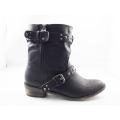 Nouveau style cheville plat talon femmes bottes habillées (HCY03-139)