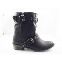 Новый стиль лодыжки плоский каблук женщин ботинки платья (HCY03-139)