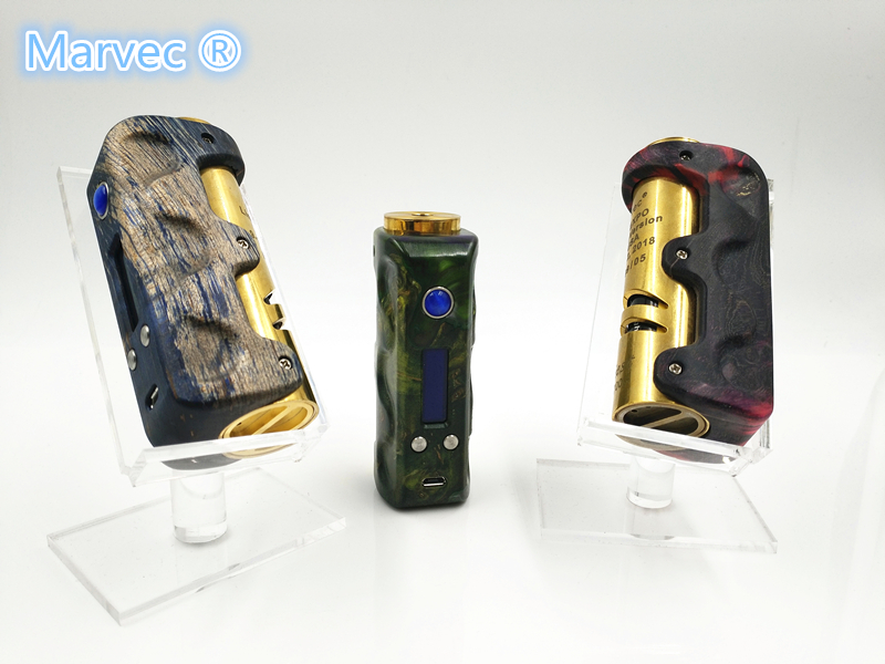 Single 18650 Stab wood 75W TC vape