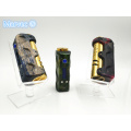 Stabilized wood temperature control vape box MODs