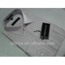 Высокое качество хлопок без железа мужчины платье бизнес рубашка с длинным рукавом FYST04-Л
