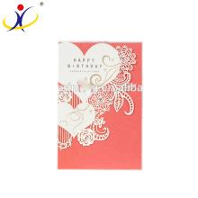 Couleur personnalisée! Cartes de voeux de fantaisie en gros trois cartes d'anniversaire de pli avec de divers modèles