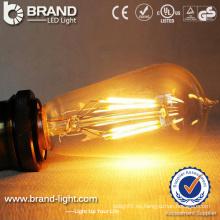 2W 4W 6W llevó la luz de bulbo baja del filamento E26