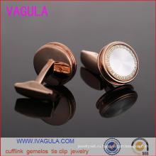 VAGULA высокое качество розового золота Мужские рубашки манжеты Gemelos Запонки (L51915)