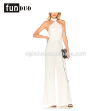2018 women white long pants loose elegant jumpsuits 2018 women white long pants loose elegant jumpsuits